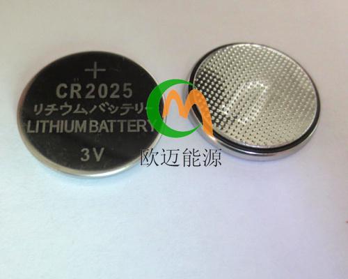 摇控器电池CR2025扣式电池