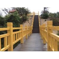 河道栏杆-仿木挡土墙-园林小品-仿木树桩