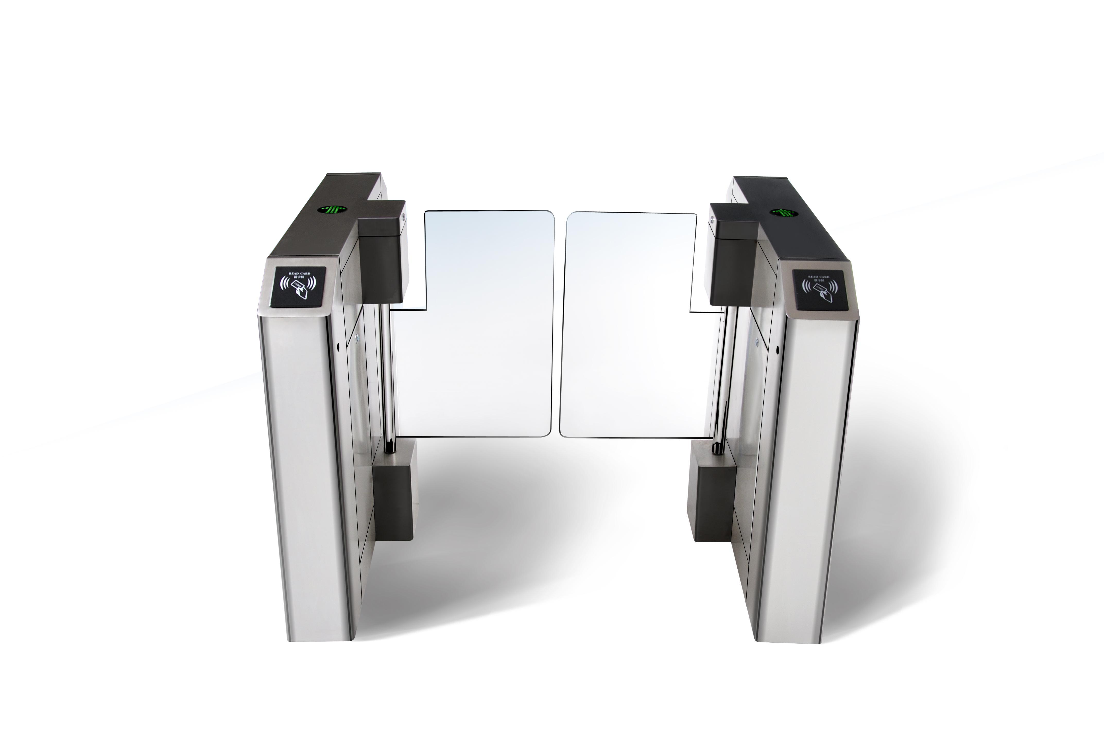 写字楼实名制访客闸机展二维码平移门大厦人脸识别人行通道平移闸