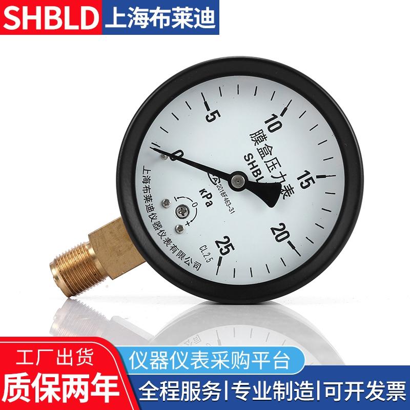 YE-100膜盒压力表YE-150