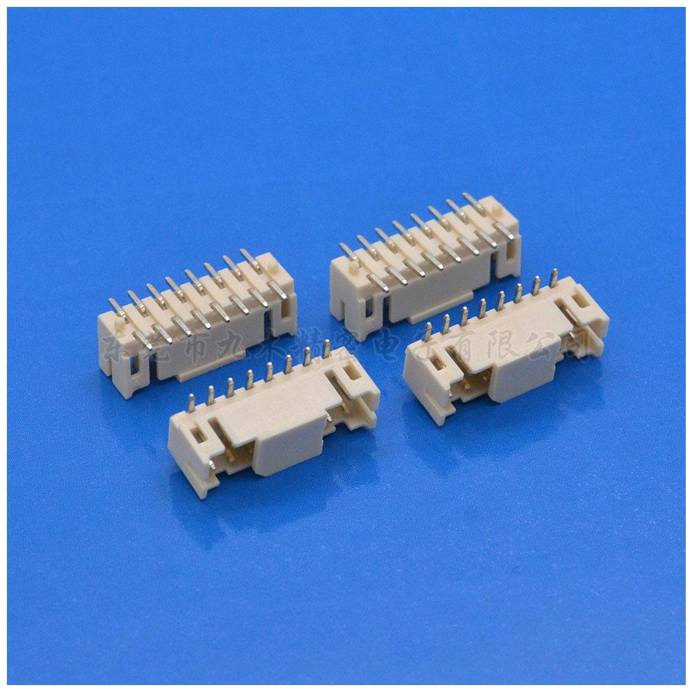 JST2.0SMT贴板带柱子-东莞市九木电子各种连接器