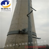 线路检修固定工具抱箍式电杆爬梯圆管方管爬梯