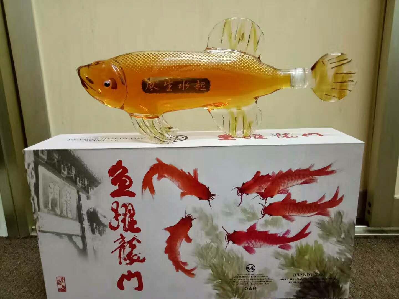 大鲤鱼造型玻璃酒瓶金龙鱼造型玻璃工艺酒瓶动物鱼型醒酒器