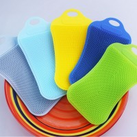 多功能硅胶洗碗刷食品级纯硅胶厨房家用去污百洁布不沾油刷碗神器