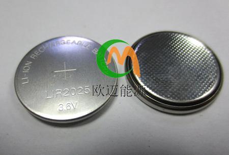 LIR2025充电电池3.6V