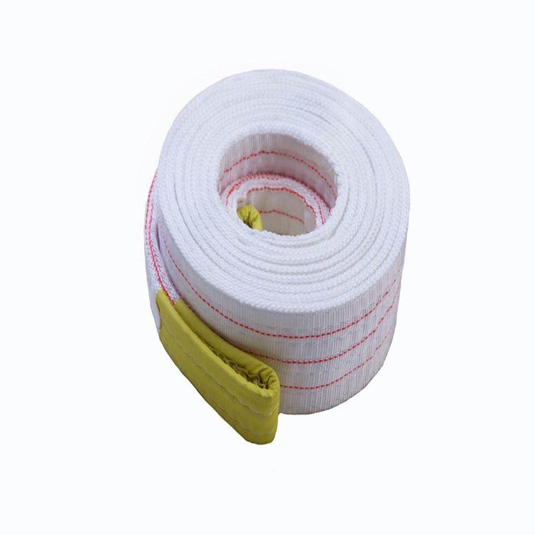 河北立诗顿1吨3米扁平双扣白色吊装带|起吊钢材用