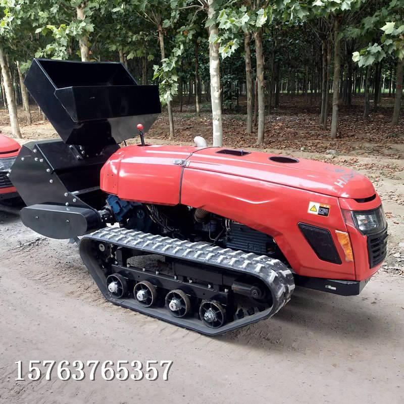 遥控式微耕机可原地转向履带式旋耕机