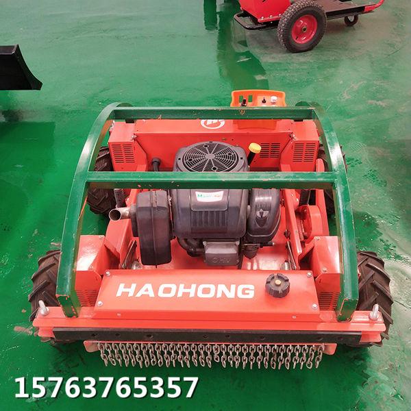 履带式遥控割草机适应复杂的工作环境水库大坝割草机