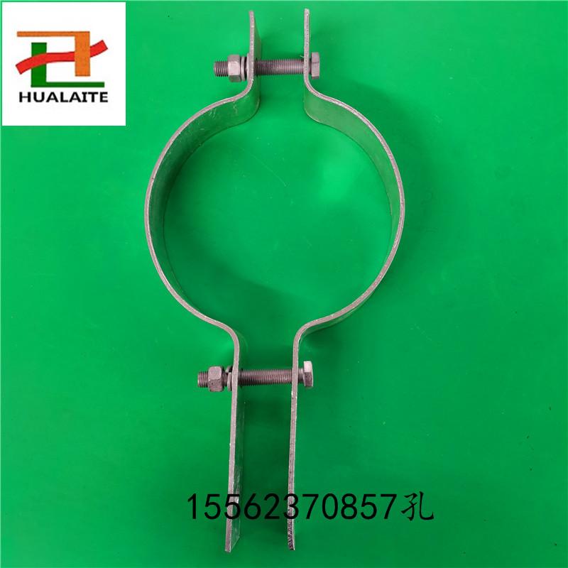 电力金具生产厂家 电线杆固定夹具 双长尾抱箍卡箍