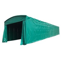 安装大型伸缩雨棚户外折叠帐篷 伸缩式遮阳棚移动推拉棚厂安