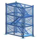 供应80型安全梯笼 建筑箱式梯笼 四川梯笼厂家现货