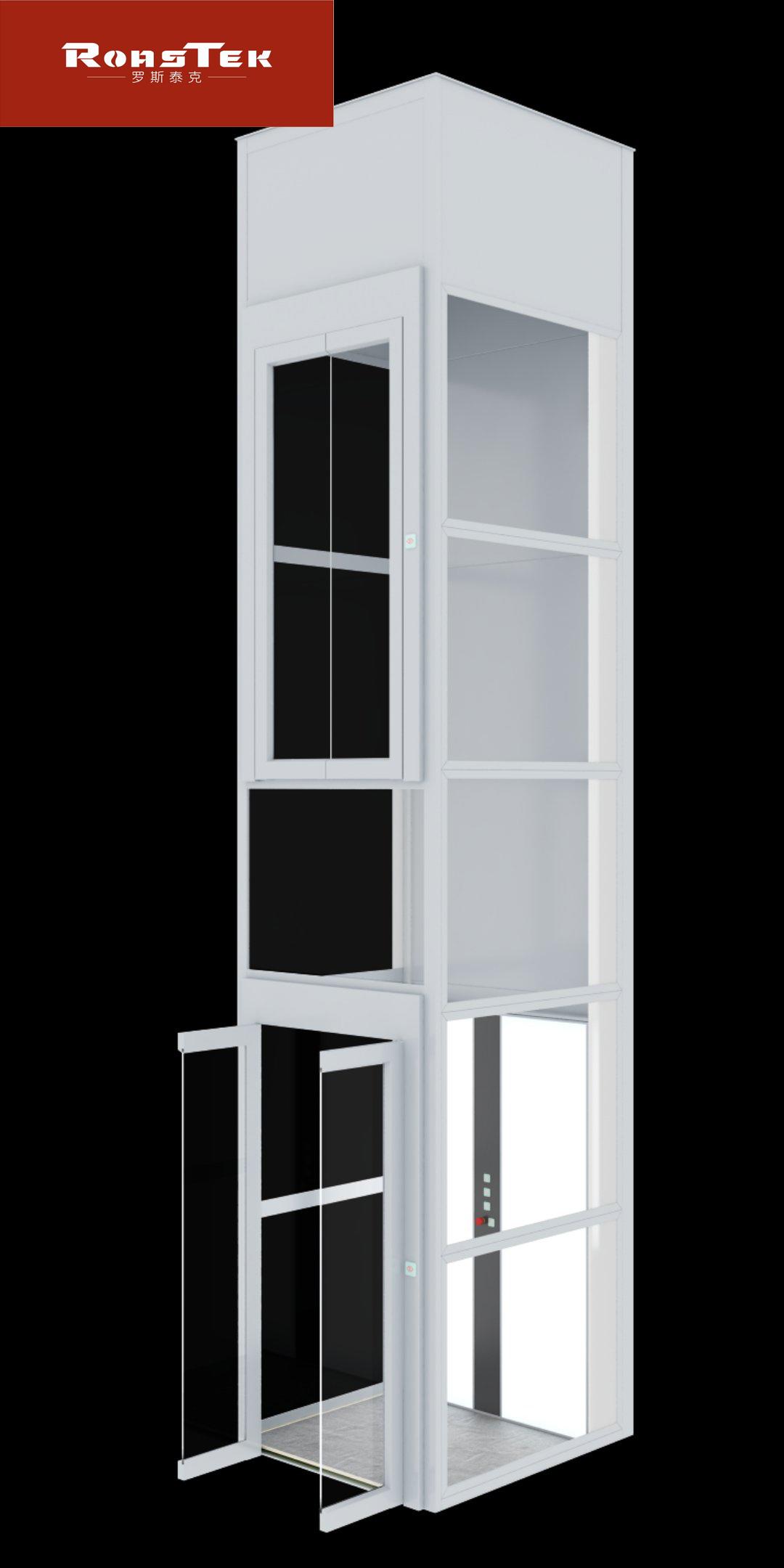 更小的别墅电梯,占地1平方米,载重250KG,可乘坐2-3人