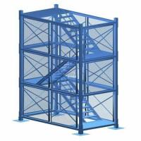 建筑箱式梯笼 框架梯笼 河北厂家供应桥梁组合梯笼