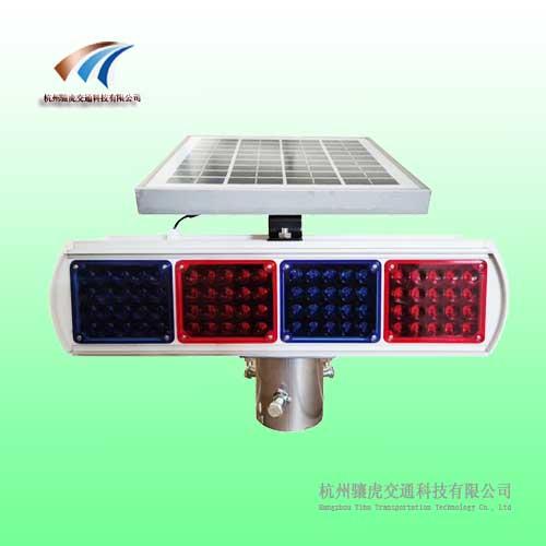 四面爆闪灯侧面2灯 太阳能爆闪灯交通警示灯生产厂家