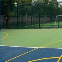 咸阳市浸塑球场围栏 蓝色勾花铁丝护栏 篮球场围网定制