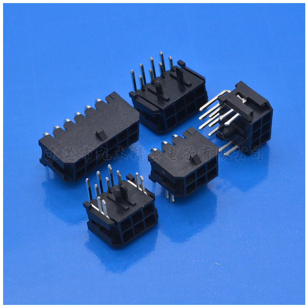 Molex3.0双排弯针小5557空接插板Wafer针座