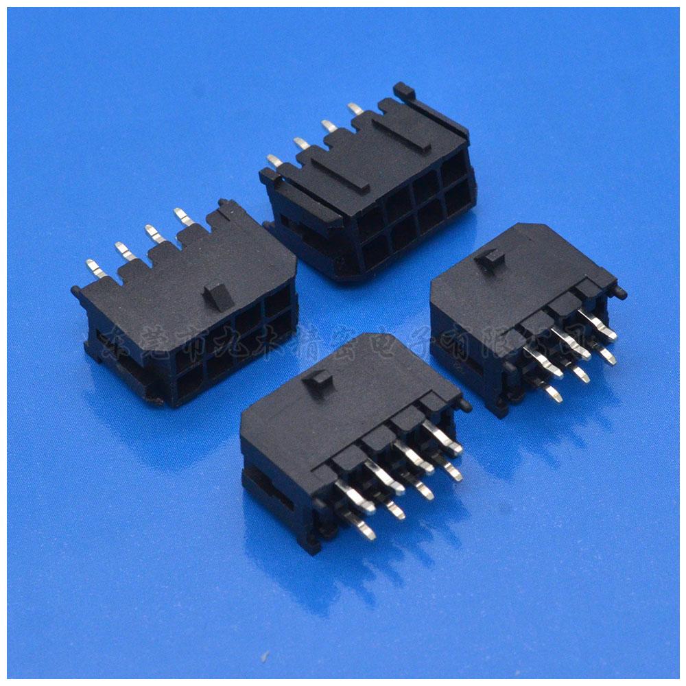 Molex3.0空接连接器直针双带扣