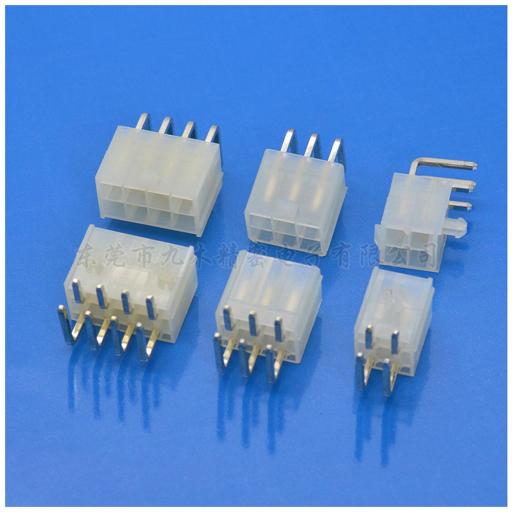 MOLEX4.2间距双排90度插板针座连接器