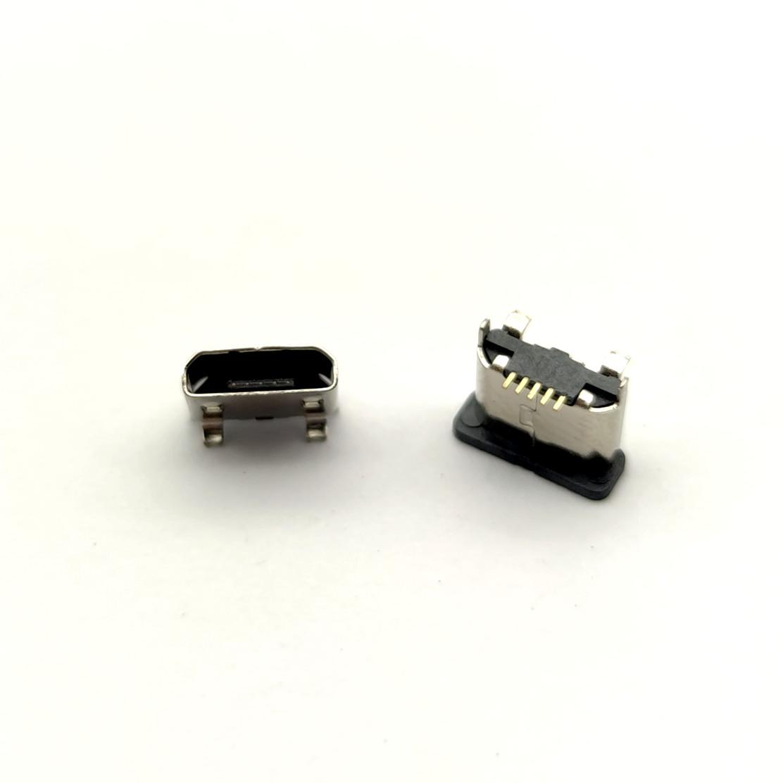MICRO母座 5P 立式贴板 高5.0 180度